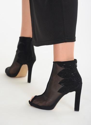 D by Divarese Yüksek Topuklu Bilekli Ayakkabı Siyah